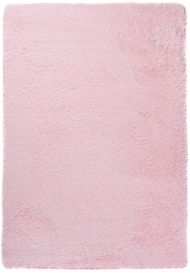 SILK Shaggy Area Rug Modern Fluffy Plain Non-Slip Light Pink