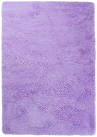 Silk Teppich Shaggy Hochflor Modern Einfarbig Lila Langflor