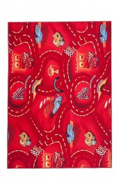 CARS Area Rug Children Room Kids Play Mat Durable Carpet Red