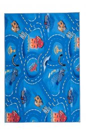 CARS Area Rug Children Room Kids Play Mat Durable Carpet Blue