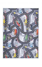 CARS Area Rug Children Room Kids Play Mat Durable Carpet Grey