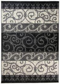 QMEGA Vloerkleed Zwart Creme Design Modern Abstract Duurzaam