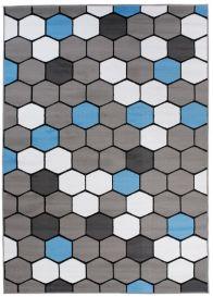 PINKY Vloerkleed Grijs Blauw Creme Tiener Geometrisch Modern
