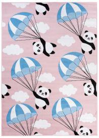 PINKY Vloerkleed Speelkleed Roze Panda Design Duurzaam Woonsfeer