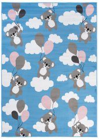 PINKY Area Rug Children Room Bedroom Play Mat Koala Blue