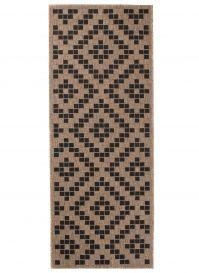 FLOORLUX Sisal Carpet Runner Hallway Diamond Natural Black