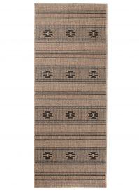 FLOORLUX Sisal Carpet Runner Hallway Dining Aztec Coffee Black