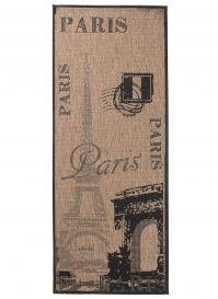 FLOORLUX Sisal Carpet Runner Hallway Dining Paris Coffee Black