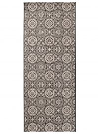 FLOORLUX Sisal Carpet Runner Hallway Mosaic Silver Black