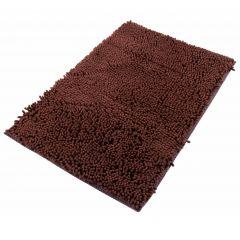 Chenille Teppich Mikrofaser Badematte Rutschfest Braun