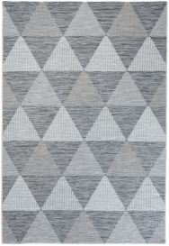 Terazza Teppich Sisal Modern Dreiecke Grau Schwarz Creme