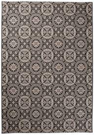 FLOORLUX Vloerkleed Tapijt Antraciet Zwart Mozaiek Duurzaam Hoogwaardig