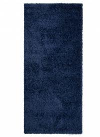 ESSENCE Tapis de Passage Moderne Bleu Marin Poil Longue Doux Shaggy