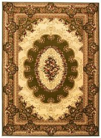 YESEMEK Area Rug Short Pile Traditional Classic Decorative Green