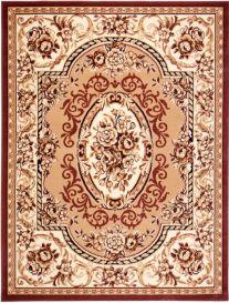 ATLAS Teppich Klassisch Kurzflor Ornament Floral Beige Braun