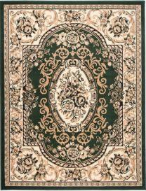 Atlas Tappeto Verde Crema Ornamento Decorativo A Pelo Corto