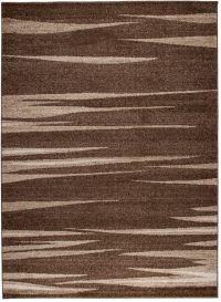 SARI Vloerkleed Donkerbruin Korte Pool Modern Abstract Interieur