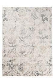 TAPISO MONTREAL Teppich Kurzflor Beige Modern Verwischt Vintage Ornament Floral Geometrisch Muster 3D Optik Wohnzimmer ÖKOTEX
