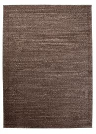 SARI Area Rug Modern Short Pile One Colour Plain Dark Brown