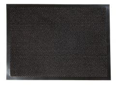 ORKAN Non-Slip Door Mat Rubber Backed Entrance Black