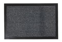 ORKAN Non-Slip Door Mat Absorbent Rubber Backed Dark Grey