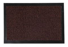 ORKAN Non-Slip Door Mat Absorbent Rubber Backed Dark Brown