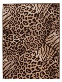 SCARLET Teppich Kurzflor Gepard Beige Schwarz Modern Tiermotiv