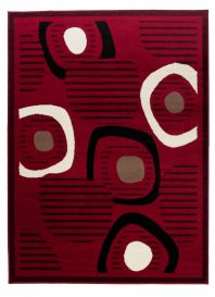 SCARLET Modern Area Rug Contemporary Abstract Pattern Burgundy