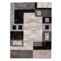 DREAM Area Rug Modern Short Pile Geometric Rectangle Grey