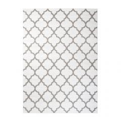 Fire Teppich Kurzflor Modern Marokkanisch Geometrisch Weiß