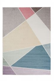 HAPPY Area Rug Modern Short Pile Geometric Multicolour