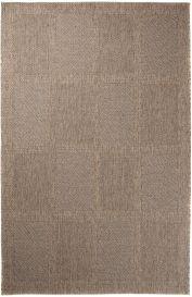 NATURE Teppich Sisal Optik Flachgewebe Modern Karo Braun