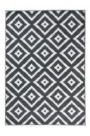 Luxury Teppich Kurzflor Grau Weiß Modern Geometrisch Karo