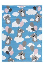 PINKY Area Rug Children Room Bedroom Play Mat Koala Blue