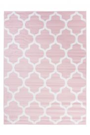PIMKY Area Rug Living Room Bedroom Modern Trellis Pink