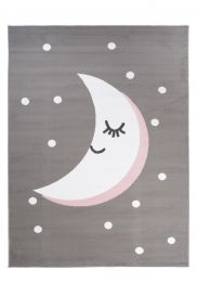 PINKY Area Rug Children Room Bedroom Play Mat Moon Grey