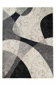 QMEGA Area Rug Modern Abstract Pattern Light Dark Grey Black