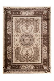 TANGO Traditional Area Rug Classic Frame Oriental Brown Beige