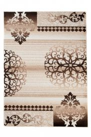 TANGO Vintage Area Rug Short Pile Ornamental Floral Beige Brown