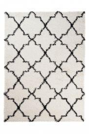 RIO NEW Vloerkleed Creme Wit Marokkaanse Trellis Design Interieur