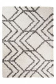 RIO NEW Vloerkleed Beige Pijlen Geometrisch Abstract Design Shaggy