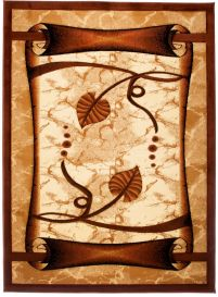 ANTOGYA Area Rug Modern Abstract Leaf 3D-Effect Cream Brown