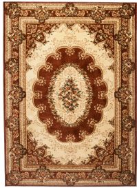 YESEMEK Area Rug Short Pile Traditional Classic Decorative Brown