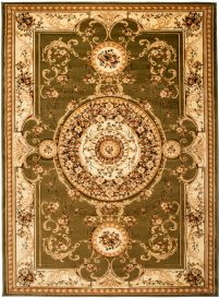 YESEMEK Area Rug Short Pile Traditional Decorative Ornament Green