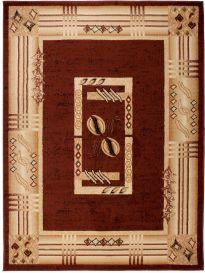 ATLAS Vloerkleed Creme Bruin Frame Abstract Modern Woonsfeer