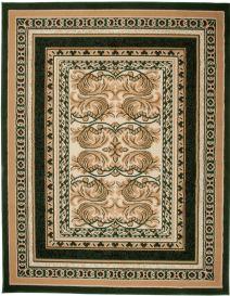 ATLAS Vloerkleed Groen Frame Klassiek Woonsfeer Design Duurzaam