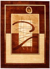 Dorian Teppich Modern Kurzflor Streifen Design Creme Braun