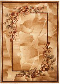 Dorian Teppich Modern Kurzflor Floral Design Beige Braun