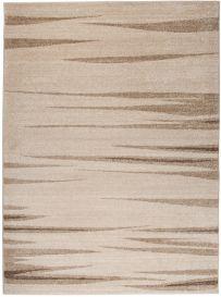 SARI Area Rug Modern Contemporary Short Pile Stripes Light Beige