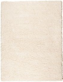 RIO Area Rug Modern Shaggy Long Pile Plain One Colour Cream